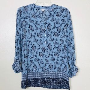 Cato floral blouse shirt size XS long sleeves top
